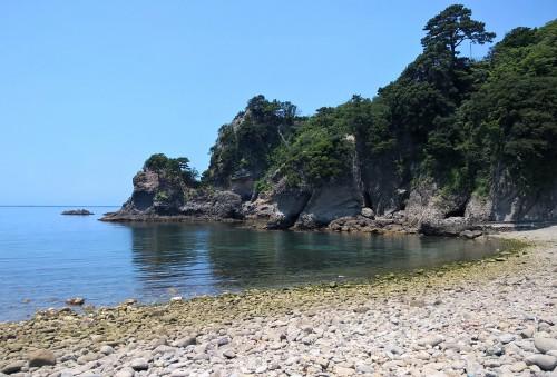 La mer à marée basse à Dôgashima dans la péninsule d'Izu.