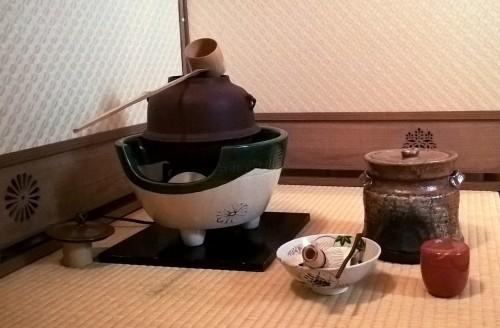 Accessoires pour la cérémonie du thé.