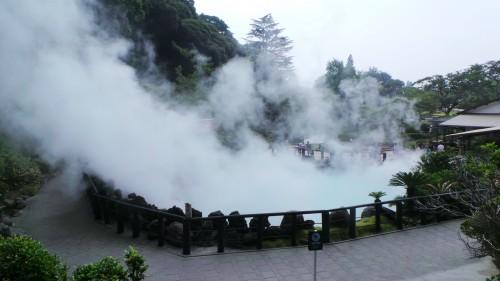 L'un des jigoku ou enfer fumant de Beppu !