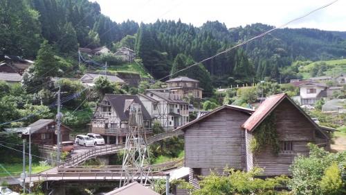 Sur les hauteurs du petit village de Yunohira à côté de Yufuin sur l'île de Kyushu