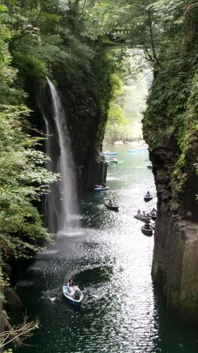 Point de vue sur la cascade Minainotaki des gorges de Takachiho