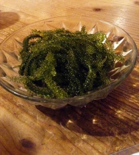 L'umibudo, une algue d'Okinawa bonne pour la santé