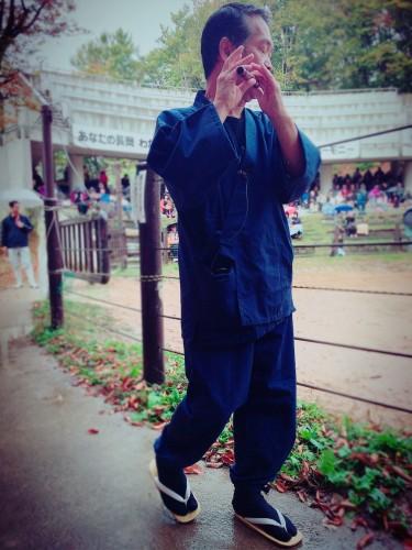 Flûtiste qui ouvre les combats de taureaux à Yamakoshi, préfecture de Niigata, Japon.