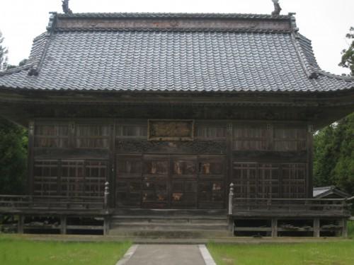 Maison traditionnelle sur l'île de Sado ou Sadogashima, Japon.