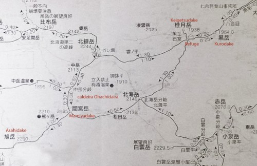 voyapon-french-asahidake-randonnee-montagne-carte