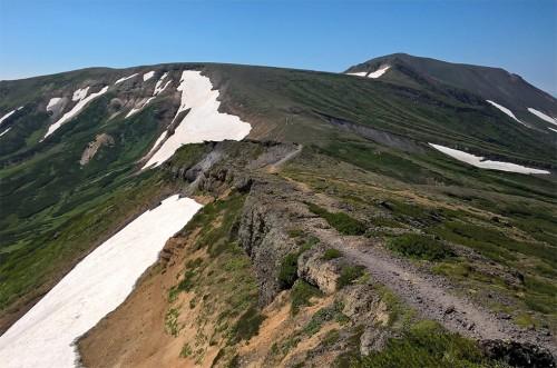 Sommet de la montagne Asahidake, parc Daizetsuzan, Hokkaido, Japon.