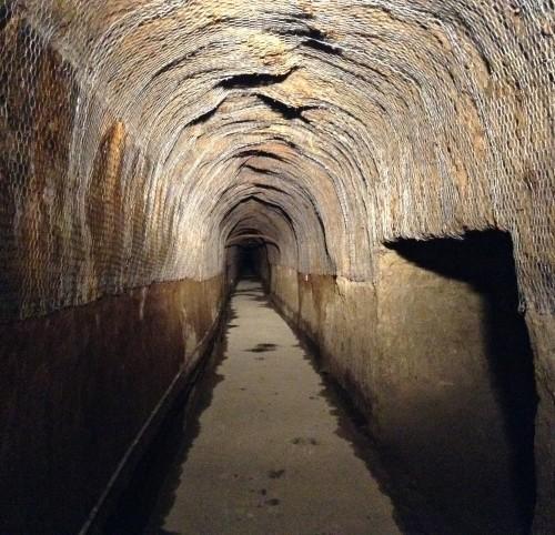 Tunnel Nakayama dans le joli village rural de Yamakoshi, Japon.