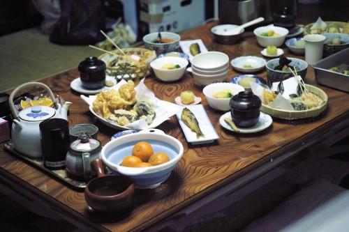 tempura dinner at farmer's inn