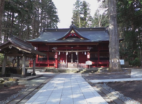 The main building of Fuji Sengen Shrine