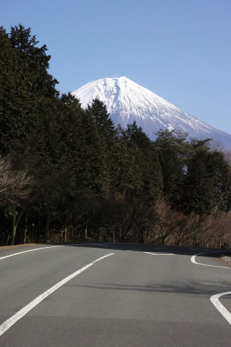 On the Fuji skyline