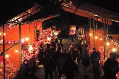 Food stalls at Daruma festival