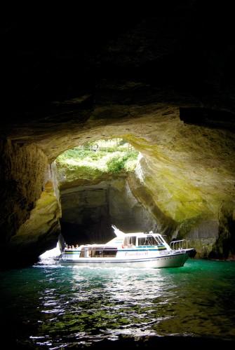 In the cave of Dogashima, Izu Peninsula
