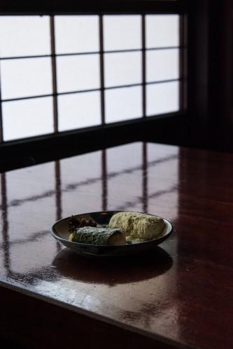 des mochis servis à l'Amazake Chaya à Hakone