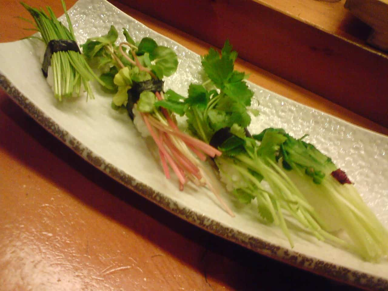 Sushi vegan/végétaliens dans la ville de Shizuoka.