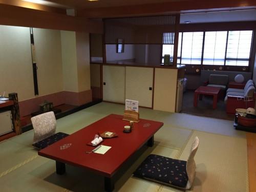 chambre avec tatami au Kinugawa Park Hotl
