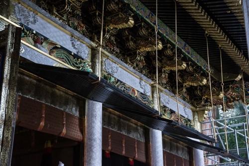 le pavillon principal Hon-Den au sanctuaire Toshogu à Nikko