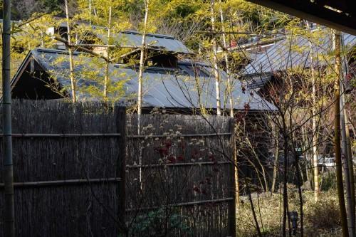 L'ensemble du complexe du onsen Hakone Yuryo à Kakone, tout près de Tokyo