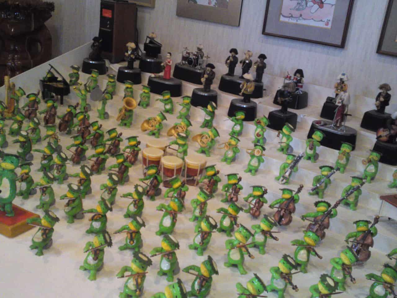 Collection de Kappa au Musée de Kappa de Tach-chan's dans la Ville de Yaizu en orchestre