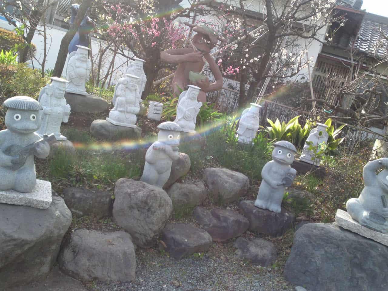 Collection de Kappa au Musée de Kappa de Tach-chan's dans la Ville de Yaizu dans un sanctuaire