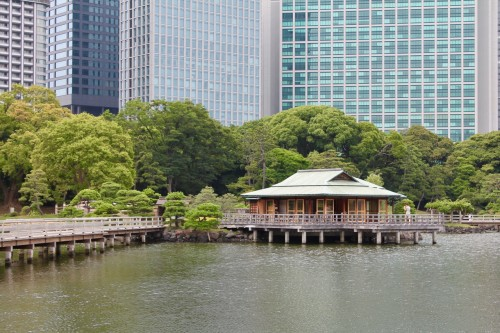 Le jardin Hamarikyu, au centre de Tokyo