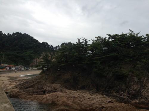 Partie de la plage de Sasagawa à Murakami dans la préfecture de Niigata