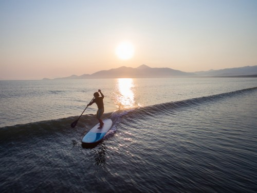 l'experience paddle à la plage de Higashihara, Karatsu, Saga.