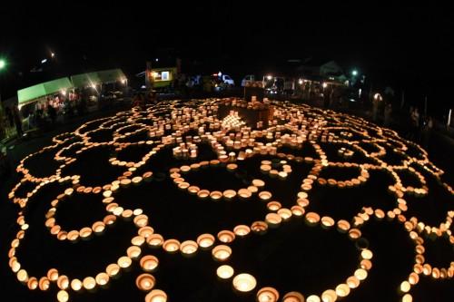 the lantern festival at Imari Le village de potiers d'Okawachiyama tout près d'Imari dans la préfécture de Saga et la place centrale du village avec son festivalvillage