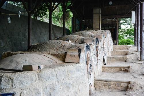 Le village de potiers d'Okawachiyama tout près d'Imari dans la préfécture de Saga et les fours de la ville