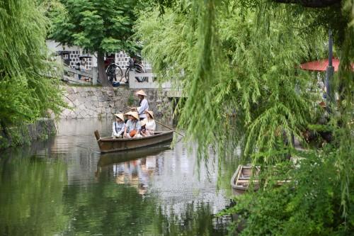 visite du quartier historique de Kurashiki, le Bikan avec le beau canal
