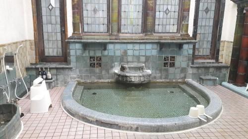 The Iwamotoro's bath room in Enoshima island, Kanagawa prefecture, Japan.