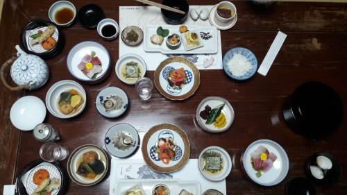 The Iwamotoro's Japanese meal in Enoshima island, Kanagawa prefecture, Japan.