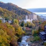 Jozankei, village thermal au cœur des couleurs d'automne