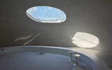 Teshima Art Museum sur l'île de Teshima dans la Mer Intérieure de Seto