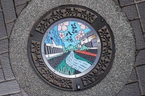 Omihachiman, Lac Biwa, Baumkuchen, époque Edo, canal