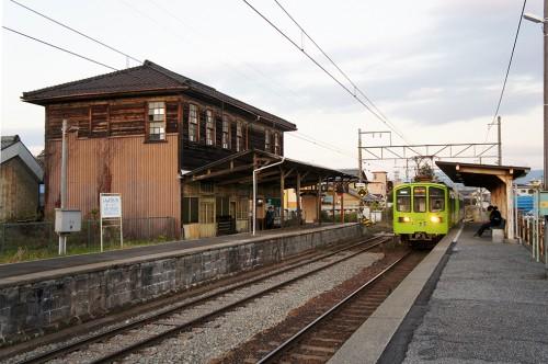 Ohmi Railway, Taga-taisha, Hikone, Shiga, Kyoto, Chemin de fer, Gare de Shin-Yokoachi