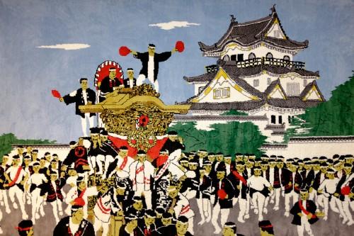 Kishiwada, Osaka, Kansaï, château japonais, Danjiri Matsuri