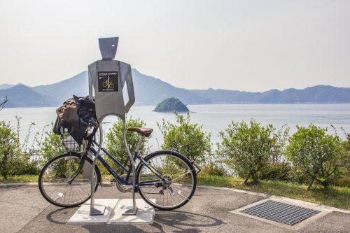 Mr Cycle pour vous servir le long de la Shimanami Kaido, dans la région de Setouchi au Japon