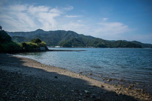 Plage sur l'île d'Ohnyujima, préfecture d'Oita, Japon