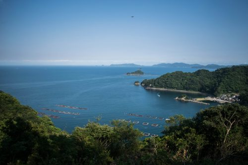 Viewpoint at the top of Ohnyujima Island, Oita Prefecture, Japan