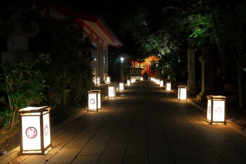 a small alley during the lantern festival