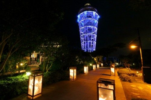 the lantern festival illuminates Enoshima every year from August 1st to 31st