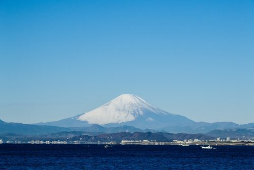 Mount Fuji and its snowy summit