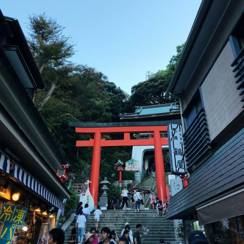 Enoshima, the historic place of worship in the heart of nature