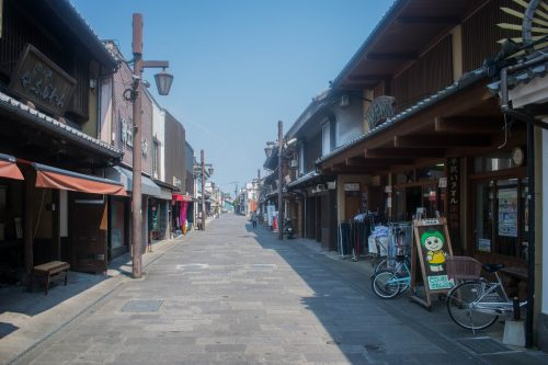 Shopping Alley in Usuki, Oita Prefecture, Japan