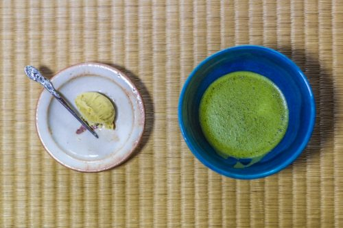 Zen time during a tea ceremony at a Buddhist temple in Gifu Prefecture, Japan