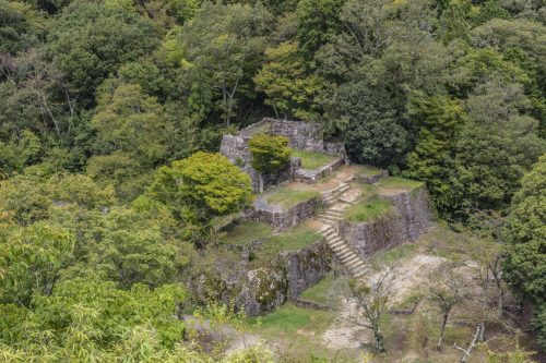 Naegi Castle Ruins in Nakatsugawa, Gifu Prefecture, Japan