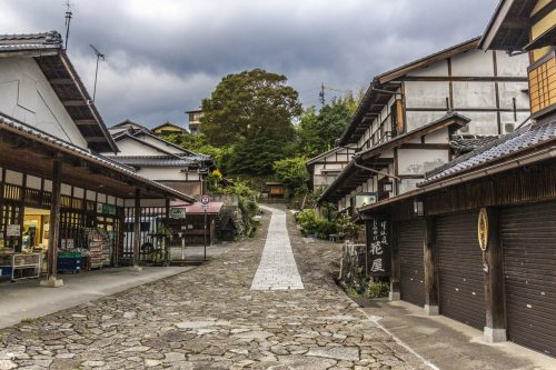 Traditional houses along the Nakasendō, Gifu Prefecture, Japan