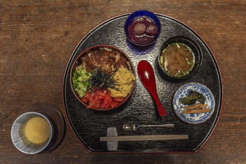 Meal served at Agemiya Restaurant in Nakatsugawa, Gifu Prefecture, Japan