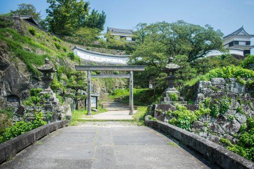 Parc du château à Usuki, préfecture d'Oita, Japon