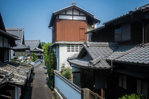 Typical streets in Usuki, Oita Prefecture, Japan